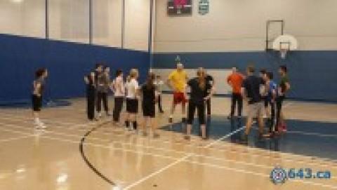 Entrainement sportif avant les jeux des cadets