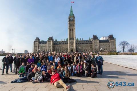 Visite du parlement du Canada à Ottawa